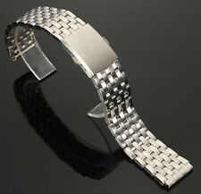 22mm Silver Stainless Steel Watch Strap Band 22 mm Lug Mesh W1 + 2 Spring Bars