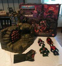 Vintage Fright Zone w box figures lot MOTU He-Man Hordak Horde Mattel 80's
