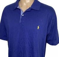 Polo Ralph Lauren Shirt Soft Cotton Short Sleeve Blue Men Sz 2XB Pony