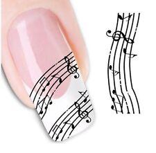 Nail Art de transferencia de agua Pegatina Adhesivos Calcomanías Notas Musicales (DX1336)