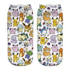 1Pair Pokemon Pocket Monsters Squirtle Socks Low Cut Crew Cotton Socks lovely
