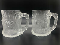 MINT 1993 McDonalds The Flinstones Frosted Clear Treemendous Glass Mug Cup