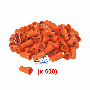Straight Barrel Orange Twist-on Wire Connector 22-14 AWG UL Listed - 500 PCS