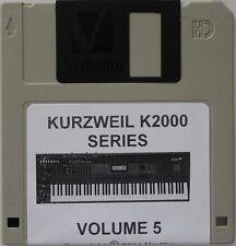 "Kurzweil K2000/K2500/K2600 Series Synthesizer"" Volume 5"" Custom sound programs"