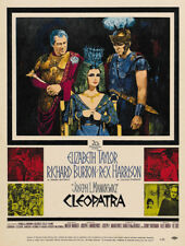 Cleopatra Elizabeth Taylor Richard Burton movie poster print