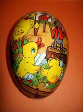Vintage E.Germany Paper Mache Easter Egg Chicks Mouse