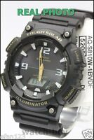 AQ-S810W-1B Japan Movt New Genuine Casio Watch Tough Solar 5 Alarms Black Gold