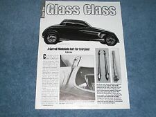 How To Tech Article on Building and Installing a Custom Windshield for a 33 Ford