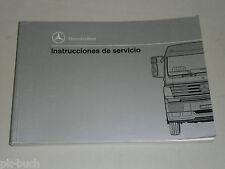 Mode D 'em Ploi Instructions de Servicio Mercedes Benz Camiones Mk Sk, 8/1994