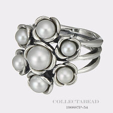 Authentic Pandora Sterling Silver Wishful Thinking Pearl Ring Size 54 190887P