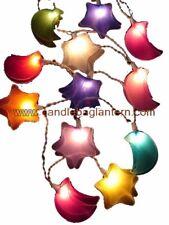 Nylon 3D Stars & Moons Fairy Light String For Baby Nursery, Kids Bedroom Gift.