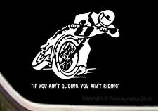 Dirt Track Flat Track Racer Motorcycle Decal Sticker M003
