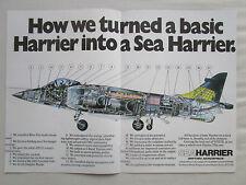 4/1980 PUB BRITISH AEROSPACE SEA HARRIER V/STOL ROYAL NAVY ECORCHE ORIGINAL AD