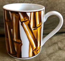 Vintage-Nicole Miller-White Bamboo-1997-Coffee Mug Cup By Sakura 12 oz - USED