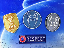 2018 UEFA CHAMPIONS LEAGUE Real Madrid SET Soccer patch 13 TROPHY badge / patch
