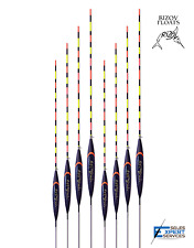 8 x Hand Made POLE FLOATS - Rizov RF132 - 0.4/0.6/0.8/1g - in NEW BOX