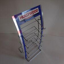 Présentoir HOLLYWOOD métal aluminium objet de collection vintage art populaire