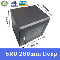 "6U 6RU 280mm deep 10"" 10 Inch Wall Mount Server Rack Network Cabinet DATA CASE"