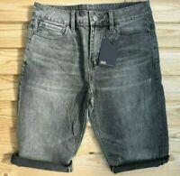 "Men`s ASOS Denim Shorts Waist Size 31"" Waist Cut Off/Turn Up Grey Slim Fit"