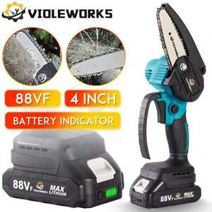 Woodworking Mini Chain Saw Strong Power With Battery Indicator For Makita 1200W