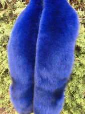 X Large Fox Fur Boa 75' Inch. (190cm) Saga Furs Collar Stole Big Blue Scarf