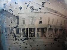 SUPER RARE Tintype Photo 1856 Thompson & McArty General Store Oneonta NY Street