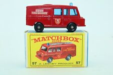 "Matchbox Lesney No 57 Land Rover Fire Truck - England - HTF ""New Model"" Box"