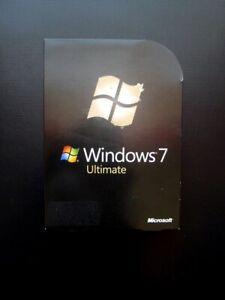 Microsoft Windows 7 Ultimate Full UK Retail DVD GLC-00181 32/64-bit DVD GENUINE
