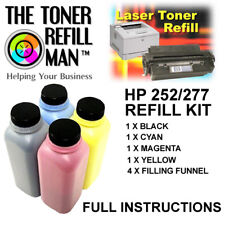 Toner Refill Kit For Use In HP Colour LaserJet Pro M252dw BK,C,M,Y CF400X HP201X