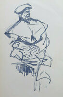 Old Drawing On Basket Portrait Male Sketch Sketching Studio Painter P28.8