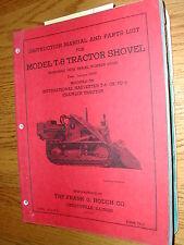 International Hough T-6 PARTS CATALOG OPERATION MANUAL LOADER FOR TD-6 CRAWLER