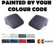 BMW NEW E70 HEADLIGHT WASHER COVER CAP PAIR SET PAINTED BY YOUR COLOUR CODE