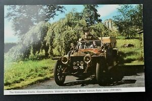 Kildrummy Castle Aberdeenshire Veteran Motor Vehicle Rally. Vintage Postcard.