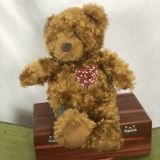 Hallmark Shoebox Patches Bear Plush Giggles Laugh Heart red Green Blue