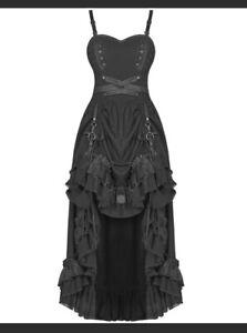 Punk Rave Adjustable front Black Steampunk dress