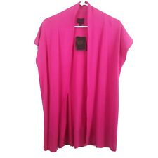 Colour Works Womens Knit Long Sleeves Open Cardigan Sweater Pink Small
