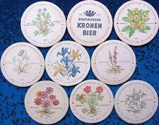 Alte Bierdeckel Serie Kronen Brauerei Dortmund - BUGA 1959 Blumen - N01 BS:A