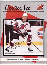 Scott Stevens Signed 1997-98 Nj Devils Program v Boston Bruins Jsa Autograph Coa