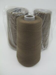 3 Cones Coats Thread 6000 Yd Brown Velvet Fog Dual Duty Polyester Cotton