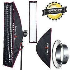 Photography Strip Softbox 27 x 140cm With  Eggcrate Honeycomb Grid  by Lencarta