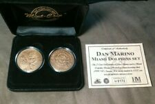 Highland Mint Dan Marino Solid Bronze 2 Coin Medallions Set # M0172 out of 1000!