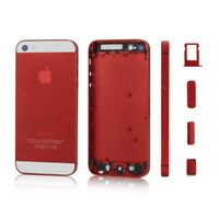 CARCASA CHASIS TAPA BATERIA APPLE IPHONE 5 BLANCO / ROJO