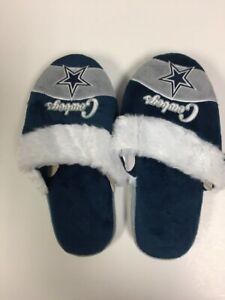Dallas Cowboys Womens Stripe Logo Slippers