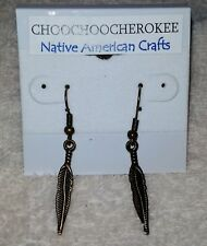Handcrafted Native American Bronze Feather Earrings  Crafted in the USA
