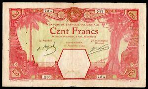 100F French West Africa Grand-Bassam 1924 - High Grade - RARE - NO RESERVE