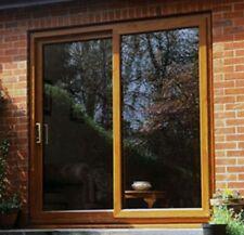 Oak Sliding Patio uPVC / Patio Doors / 1900mm x 2100mm / BRAND NEW