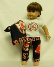 Boston Red Socks Theme PJ's For 18 Inch Doll