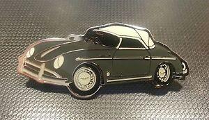 Porsche Pin 356 Cabrio glasiert ohne Stempel - Maße 52x22mm