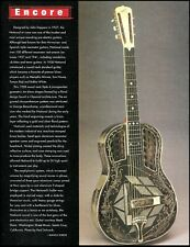1928 National Resonator round-neck Style 4 guitar history 1997 pin-up article