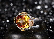 18ct Gold Stunning Natural Citrine and Diamonds Cocktail Ring GBP £6500